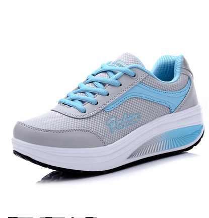 Zapatillas de deporte 2019 transpirables impermeables cuñas plataforma vulcanizadas mujer cuero Pu mujeres zapatos casuales tenis feminino