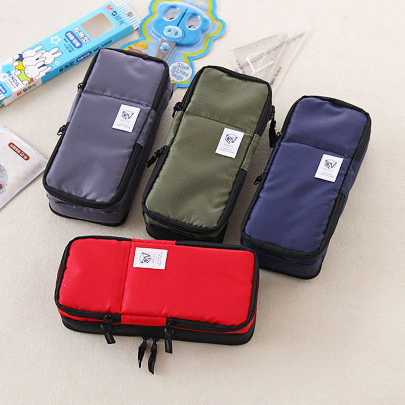 Korea Multi-function School Student Pencil Case for Boys and Girls Large Capacity Pen Curtain Box Kids Gift Stationery Supplies new leather pencil case bag for school boys girls vintage pencil case box stationery products supplies as gift for student