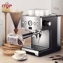 ITOP 15 бар, итальянская Полуавтоматическая кофеварка, капучино, молочный пузырь, американо, эспрессо, кофемашина для дома