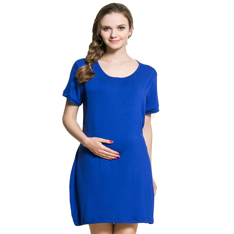 Modala Klänningar Kläder För Gravida Kvinnor Graviditet Dam Långa Moderskap Kläder Graviditet Sommar Sjuksköterskor Klänningar Amning