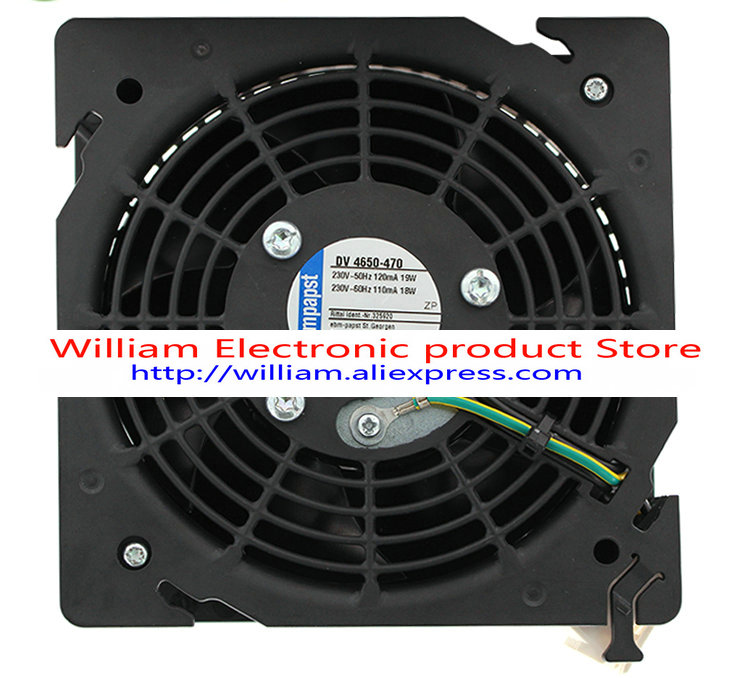 New Original ebmpapst DV 4650-470 230V-50HZ 100mA/16.1W 110MA 18W/17.7W 120mA 19W 122x122x45MM Cooling fan original ebmpapst 1120ntd tc 220 230v 16w 19w cooling fan