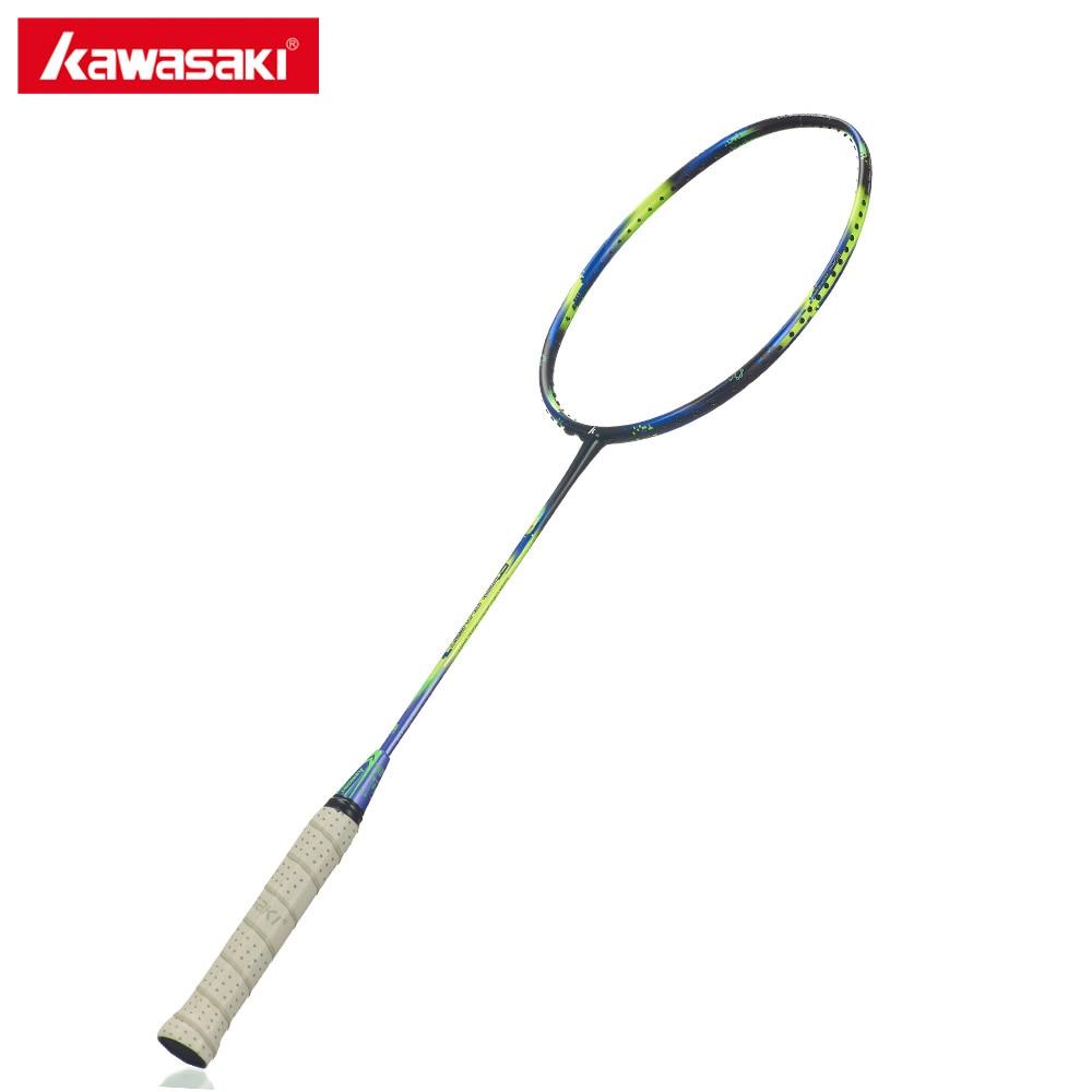 Kawasaki Super Léger 680 Raquettes de Badminton 6U Airfoil Cadre Offensive Type Carbone Racquette pour Amateur Joueur Intermédiaire