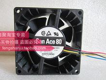 Original Sanyo 24V0.29A 109P0824A201 8CM 8032 80 80 32MM large air volume cooling fan 3 lines