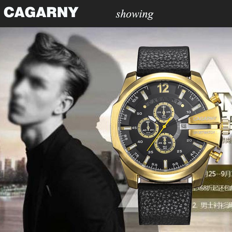 cagarny dz style quartz watch men golden mens watches (5)