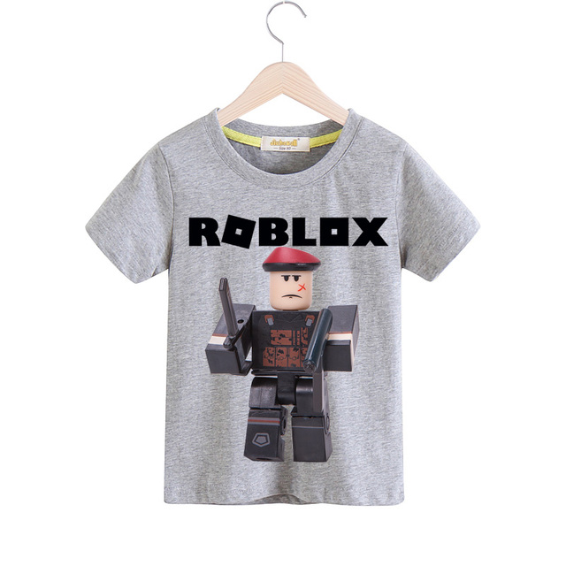 US $5 2 37% OFF|Children Roblox Game Tee Tops Boy Summer Short T shirt  Clothes Girls Casual White Tshirt For Kids T Shirt Costume Baby TX100-in