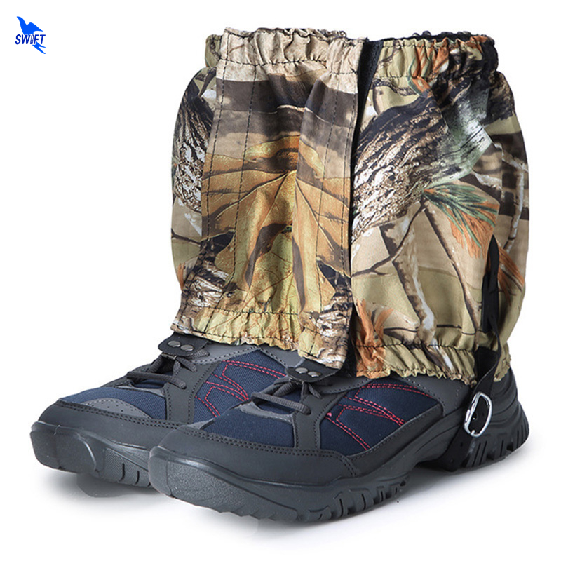 2pcs Camo Outdoor Waterproof Snow Legging Gaiters Shoe Gaiters Boot Cover