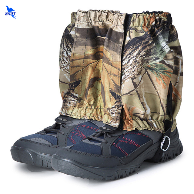 NEW 1 Pair Waterproof Snow Legging Gaiters Camouflage Outdoor Hiking Walking Climbing Hunting Skiing Short Leg Covers Breathable
