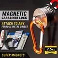 D-ring Magnetic Hook Key Ring Holder Muilitul Indoor Outdoor Adjustable Bicycle Hook Lock Aluminium carabiner lock snap AD1001-1