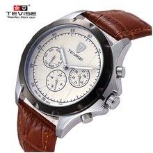 Dig Dial TEVISE Marca de lujo Mecánico Automático de Los Hombres Relojes Relojes Deportivos Relojes Hombre Reloj Calendario Resistente Al Agua Luminosa