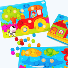 Toy Baby Learning-Toys Mushroom Puzzle Wooden Cognition Hand-Grab-Board Early-Education