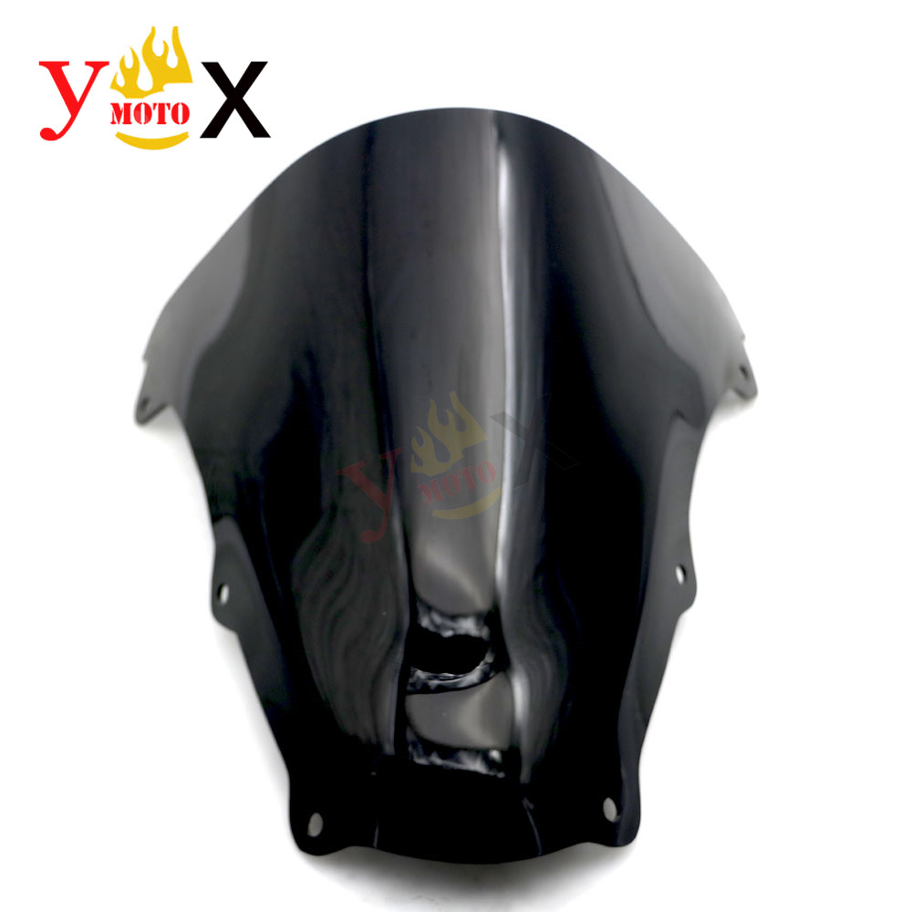 Black ABS Motorcycle <font><b>Windshield</b></font> Windscreen Deflector Double Bubble For <font><b>SUZUKI</b></font> SV1000 SV1000S 2003-2008 <font><b>SV650</b></font> SV650S 2003-2012 image