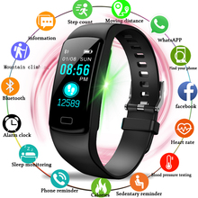 цены LIGE Smart Wristband Men Women Sport bracelet Blood Pressure Heart Rate Monitor Pedometer waterproof Smart Watch For Andrdid ios