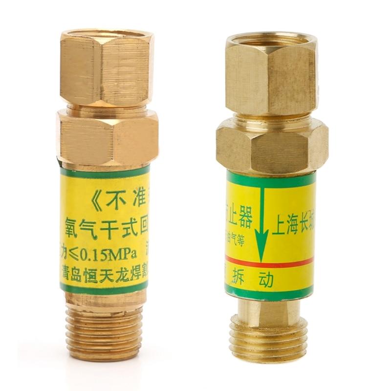 BENGU Flashback Arrestor M16x1.5 Oxygen Acetylene Check Valve For Pressure Reducer Cutting Torch