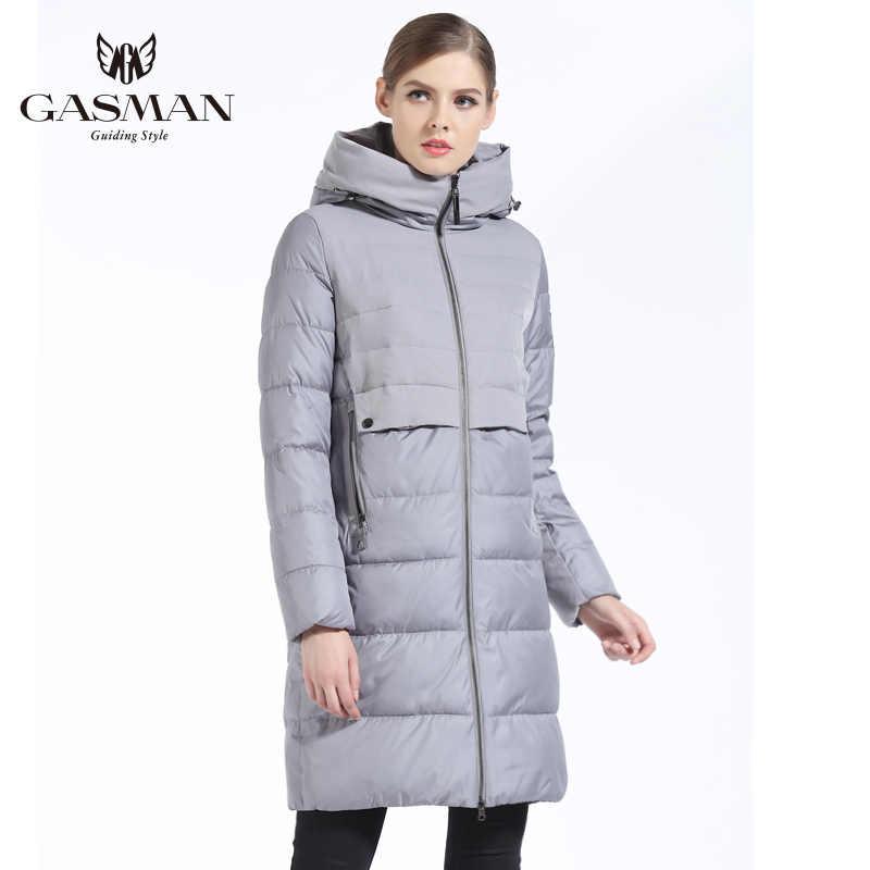 GASMAN 2019 marka kadın kış ceket ve ceket ince uzun kadın kalın aşağı Parka kapşonlu kadın ceket biyo aşağı ceket kadınlar için