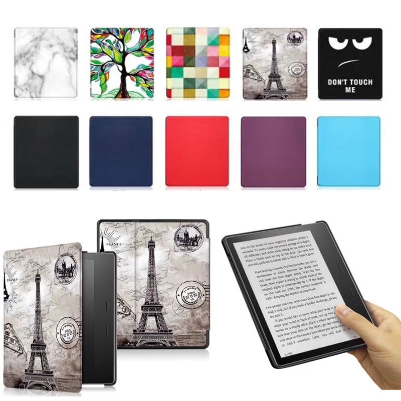 Kindle oasis 7 Flip PU Leather Case Cover 7'' E-reader E-book Colorful Print Ebook Protective Skin For Amazon kindle oasis 2017 for amazon 2017 new kindle fire hd 8 armor shockproof hybrid heavy duty protective stand cover case for kindle fire hd8 2017