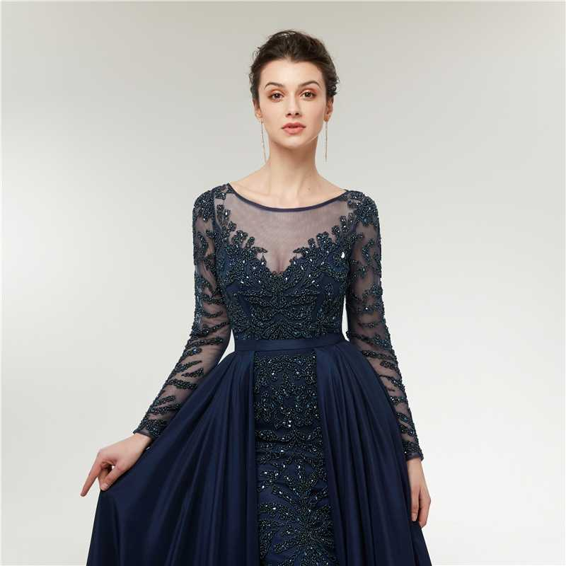 462e44e40d ... Nueva llegada vestidos de noche manga larga 2019 tafetán vestido  vestidos de noche Sexy vestido formal ...