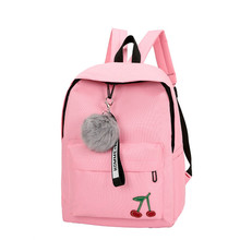 все цены на college student schoolbags for girls canvas backpack multifunction travel backpack female portable bookbags casual rucksack 2018 онлайн