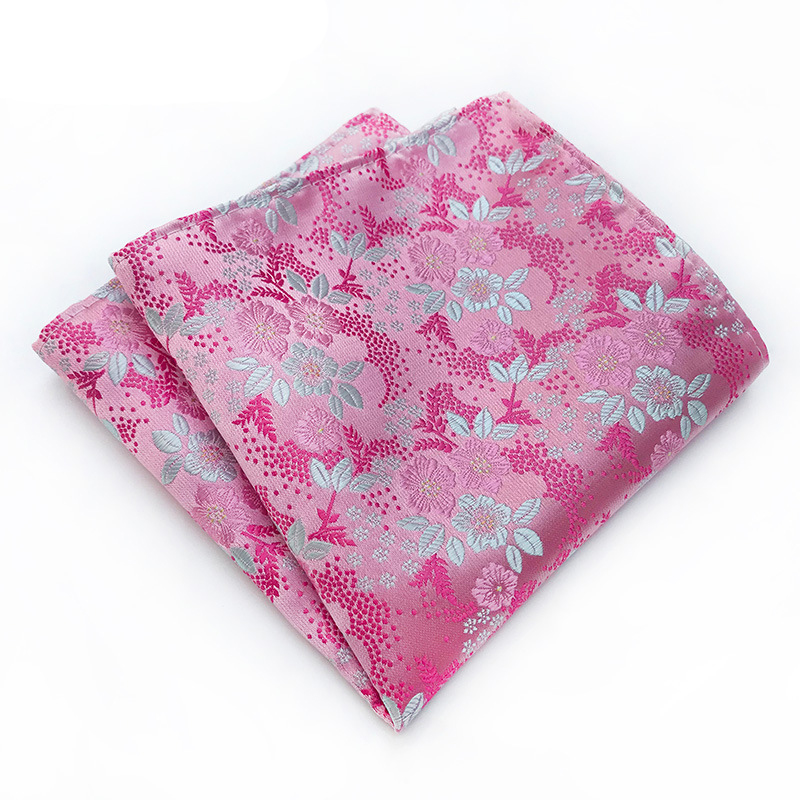 Mantieqingway Paisley Floral Printed Handkerchief For Mens Suit Pocket Square Wedding Party Hankies For Men Brand Pocket Towel