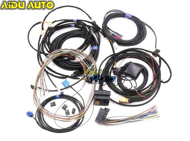 アウディ A4 B8 A5 B8 Q5 8R 更新アップグレード MMI システムインストールワイヤーケーブルハーネス & GPS アンテナ & マイク