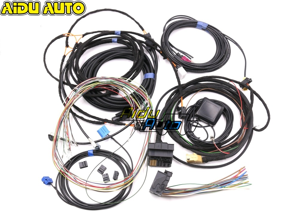 For Audi A4 B8 A5 B8 Q5 8R Update UPGRADE install MMI System Wire cable Harness GPS ANTENNA Mic in Cables Adapters Sockets from Automobiles Motorcycles