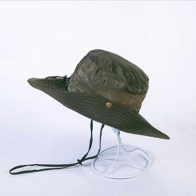 Unisex Bucket Hat Fisherman Caps Summer Sun Hats Mens Straw  ProtectionCasual Flat Panama Safari Hat Climbing d8f1493a1e0