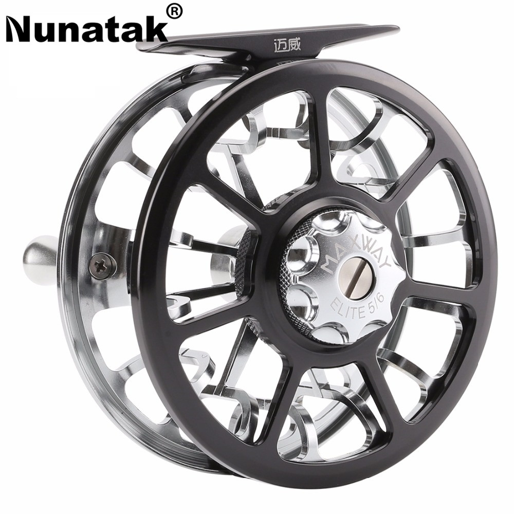 Nunatak  MAXWAY Aluminum Full Metal 5/6 3BB 137g 7003-T6 Fly Fishing Reel Ultralight Fish Wheel Fly Reel nunatak original 2017 baitcasting fishing reel t3 mx 1016sh 5 0kg 6 1bb 7 1 1 right hand casting fishing reels saltwater wheel
