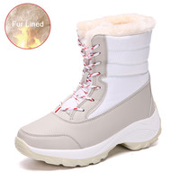 YRRFUOT Outdoor Cold Protection Woman Boots Brand Women Winter Snow Boots Thick Bottom Non slip Keep Warm Lady Student Shoes 1