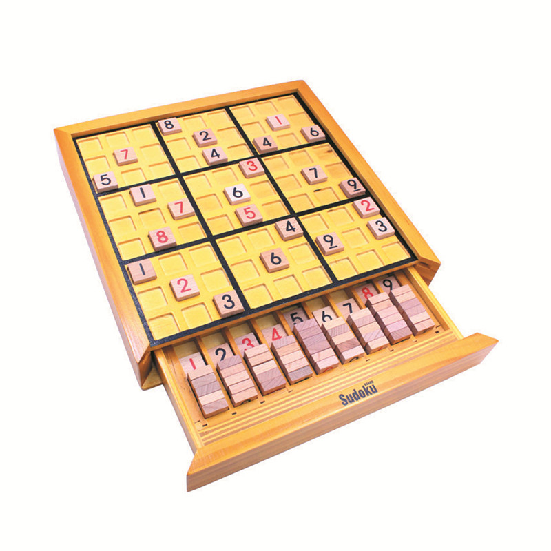 Wooden Drawers Sudoku Sudoku Games Toys Sudoku Chess Intelligence Toys Kids Early Learning Mathematics Early Learning Toys