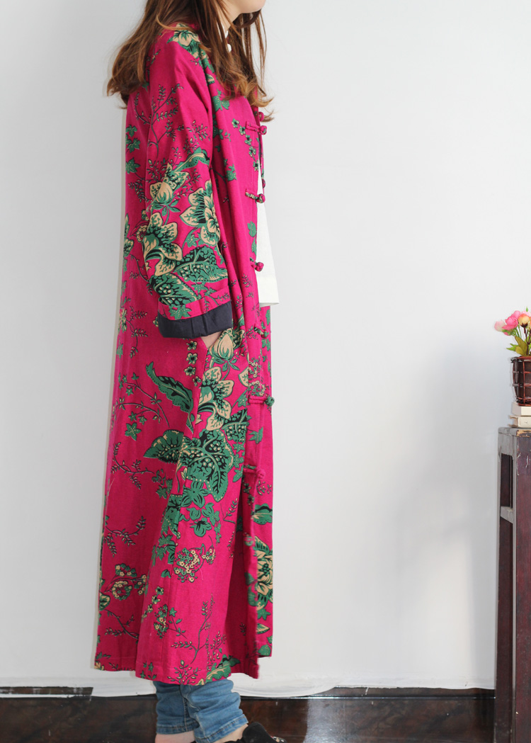 2016 Весной Пальто С Длинным Рукавом Женщин Траншеи Cloat Хлопок Белье повелительницы С Длинным Блузка Китайский Пальто Этнический Стиль Осень Ветровка