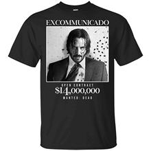 John Wick Shirt - Baba Yaga T-Shirt - Excommunicado Open Contract 14 Million Dollar T Shirt for Men 2018 Hot Sale Super Fashion цена