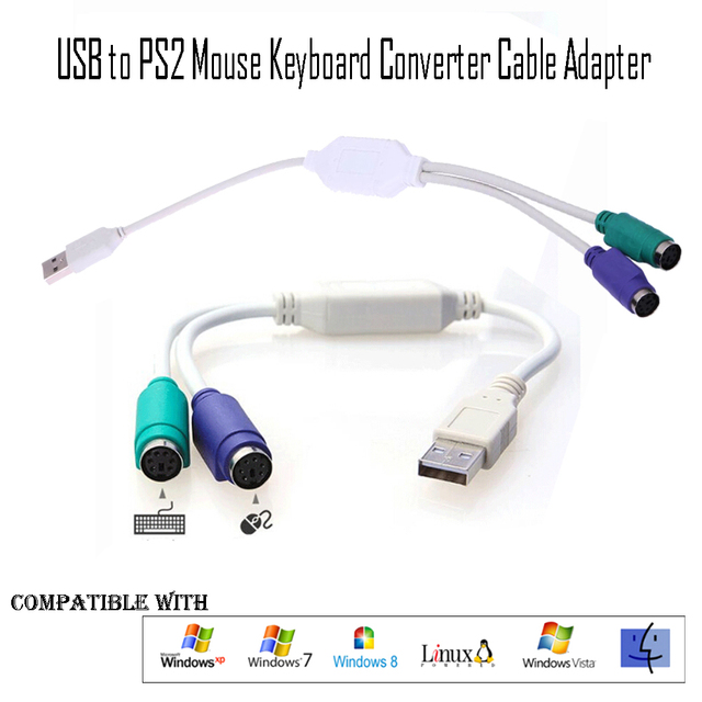 High Quality USB To PS/2 Cable Adapter 1