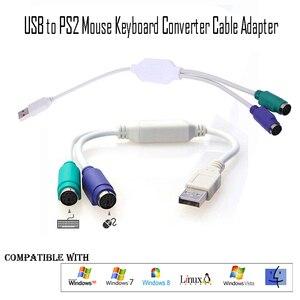 Image 2 - PS2アダプタusb 31センチメートルps/2ケーブルコンバータマウスキーボードアダプタのコンバーターへのPS2インタフェースコネクタ