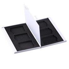 TOFOCO 1 шт. черный красный серебристый алюминиевый держатель для карт чехол 6 SD SDHC MMC SDXC карта памяти Высокое качество