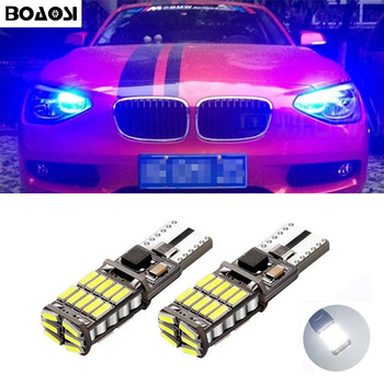 BOAOSI 2x T10 LED W5W Car Parking Clearance Light For BMW E46 E39 E91 E92 E93 E28 E61 F11 E63 E64 E84 E83 F25 E70 E53 E71 E60 image