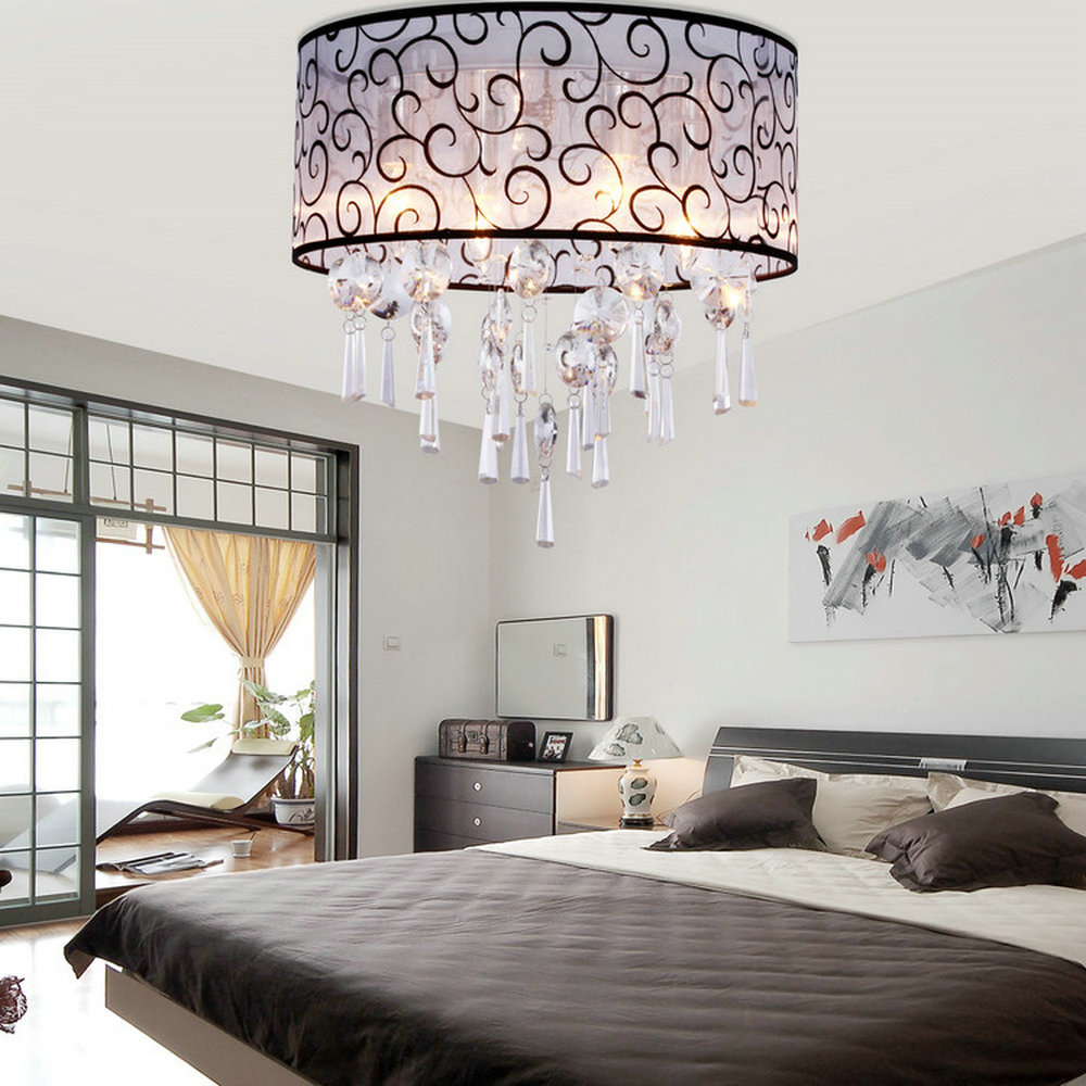 MAMEI Free Shipping 110 240V Modern Ceiling Flush Mount Crystal ...