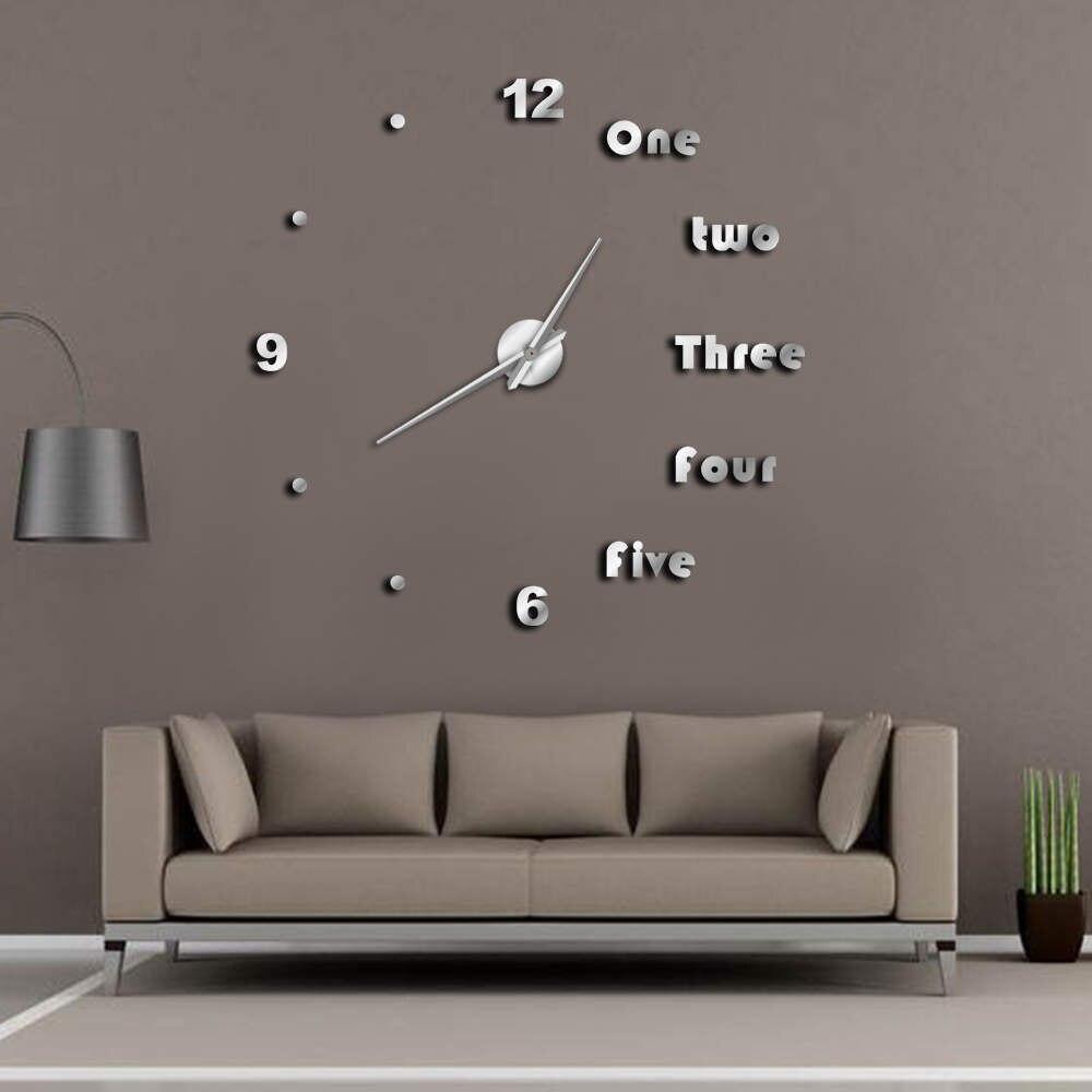 Lettere Da Appendere Al Muro us $21.6 10% di sconto|fai da te grande orologio da parete moderna di arte  della parete complementi arredo casa luxury interior design inglese lettere