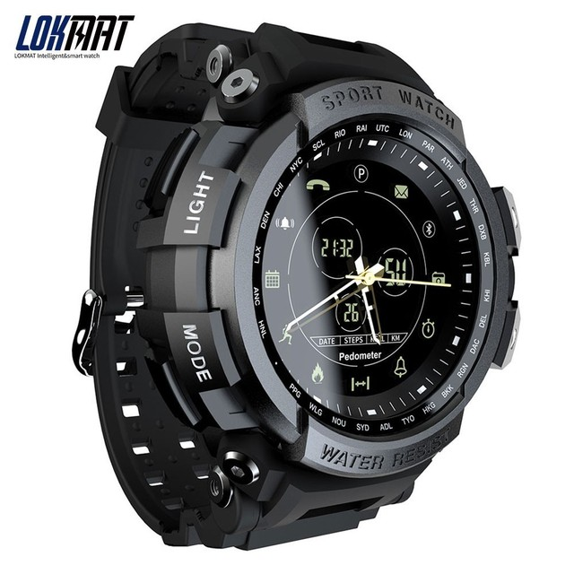1615a19d74d5 Best Price New LOKMAT SmartWatch Sports 50m Waterproof Bluetooth Call  Reminder men Smart Watch For ios