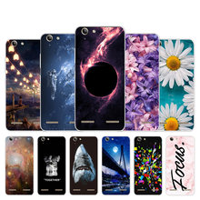 For Lenovo Vibe K5 / K5 Plus Lemon 3 A6020a40 A6020 A40 Back Cover Silicone Chrysan Design For Lenovo Vibe K5 Plus Case(China)