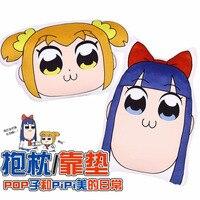Anime POP TEAM EPIC pop pipi popko pipimi kurze plüsch kopf kissen geschenke für mädchen spielzeug für kinder stärken zurück kissen