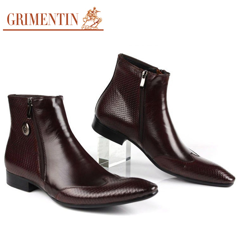 Aliexpress.com : Buy Italian Designer Mens Leather Boots Pointed ...