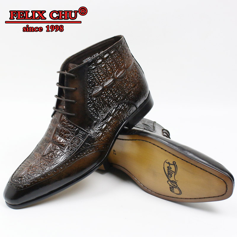 New Fashion Men Leather Dress Shoes Western Boots Cowboy Ankle Lace Up Casual Brown Black