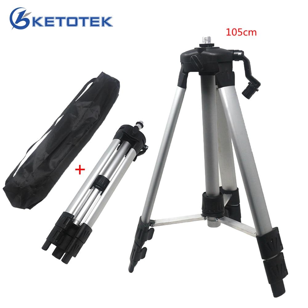 105cm Laser Level Tripod Adjustable Height for Infrared Laser Level Carbon Aluminum 5/8'' Connector adapeter