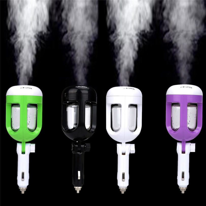 Auto Mini Car Humidifier Air Purifier Freshener Travel Car Portable 2017 Car-styling Auto car outlet perfume air freshener with thermometer lime