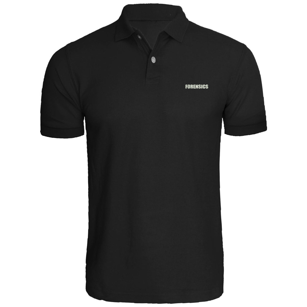 Mens FORENSICS Novelty Duty Investigator Crime Embroidered   Polo   Shirts