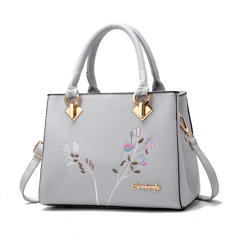 longmiao National Floral Women Messenger Bags Lady Designer PU Leather Embroidery Flowers Crossbody Shouler Bags Sac a Main 5