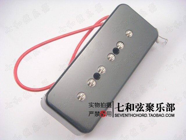 Black body yellow surface electric guitar pickups/LP jazz electric guitar sound pickups/soapbox pick ups