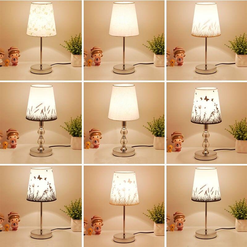 Licht & Beleuchtung Sonnig Tisch Lampe Kristall Nacht Lampe Nordic Mini FÜhrte Schreibtisch Lampe Für Schlafzimmer Wohnzimmer Baby Zimmer Bücherregal Flaxen Stoff E27 Eu Stecker Led-lampen