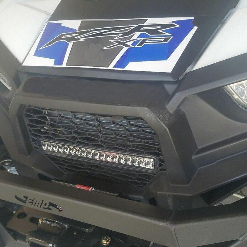 KEMiMOTO For Polaris RZR XP 1000 XP4 1000 RZR-4 900 RZR 900 Turbo RZR-XC RZR-S Front Grille with LED Light Bar Black 2014 2015