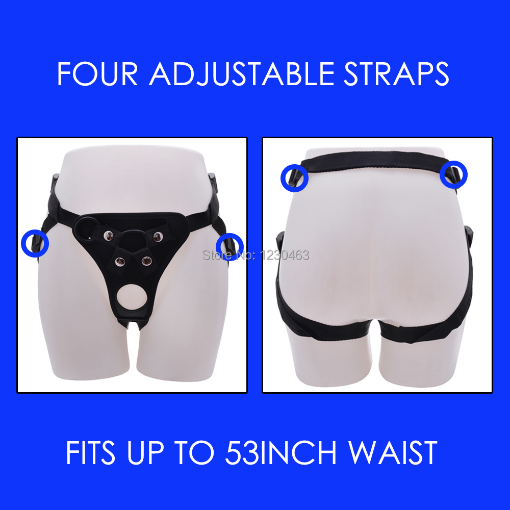 Plus Size Adjustable Double Hole Strap On Dildo Harness
