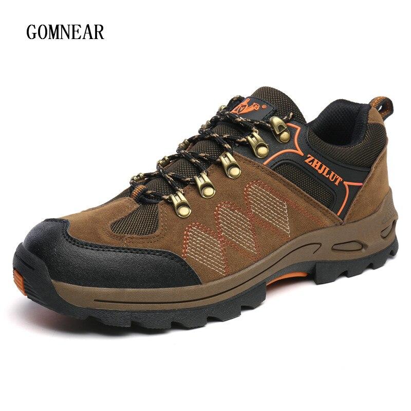 c66131a78 ヾ(^▽^)ノGomnear popolare degli uomini scarpe da trekking outdoor impermeabile  caccia escursioni in montagna stivali da trekking traspirante turismo ...